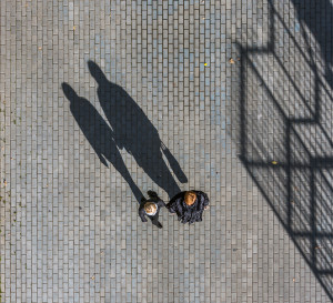 people making shadow