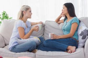2 women having a conversation