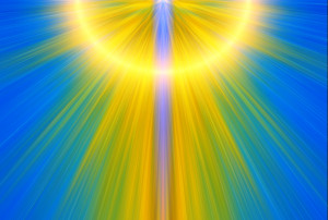 rays of colored light