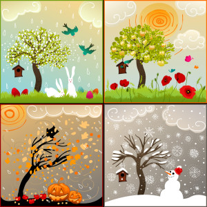 illustration of four seasons of the year