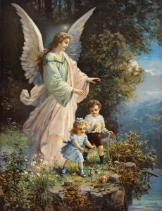 Guardian angel and 2 children