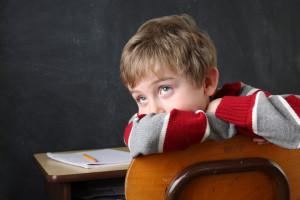 unfocused student looking bored